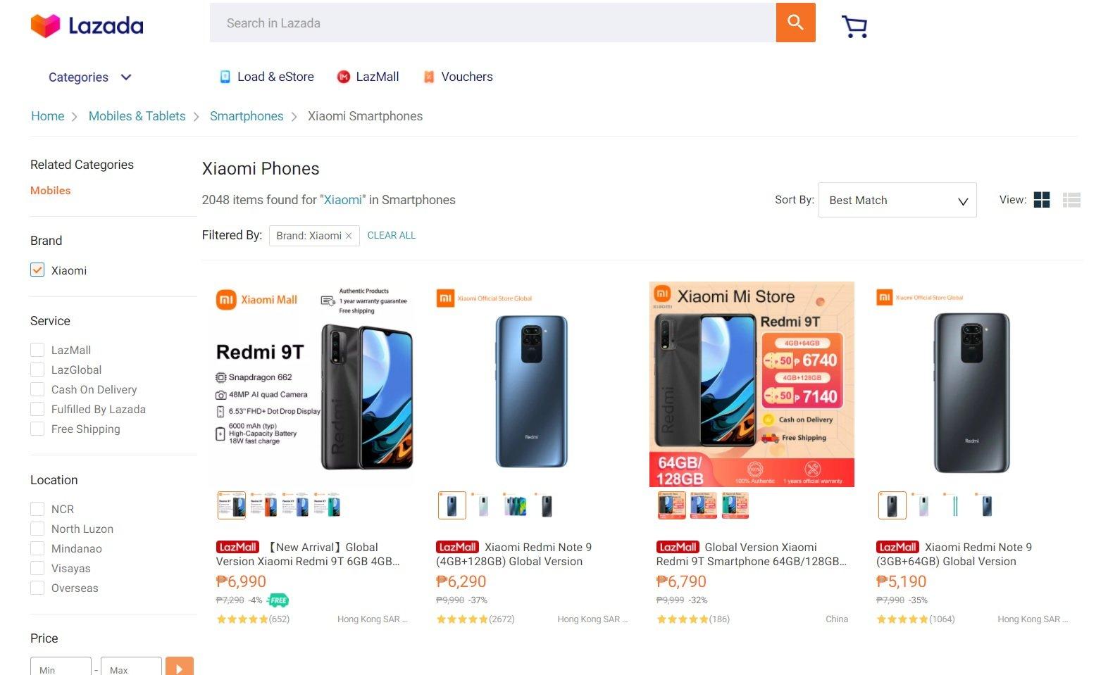 Xiaomi Brand Page
